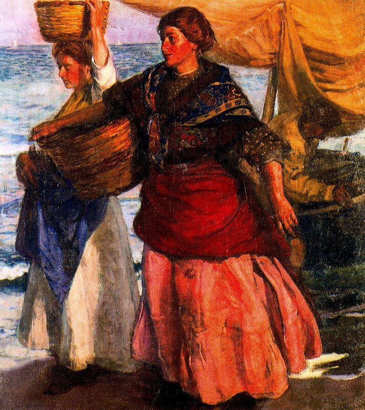 Jose Mongrell Torrent - Pescadoras valencianas
