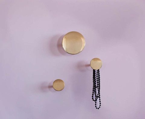 Brass Button Wall Hook - Two sizes
