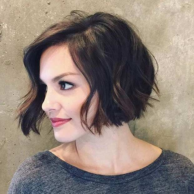 Wavy Bob Hairstyles Without Bangs : Best 20 chin length haircuts ideas on pinterest short messy bob