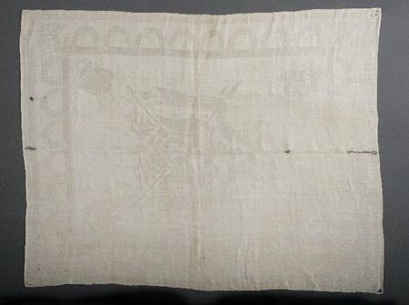 Emperor Napoleon gave this table napkin to William Bayard on February 26, 1815, the morning Napoleon escaped from his exile on the island of Elba off the coast of Italy. It ended up at the Smithsonian in 1914. (Link)