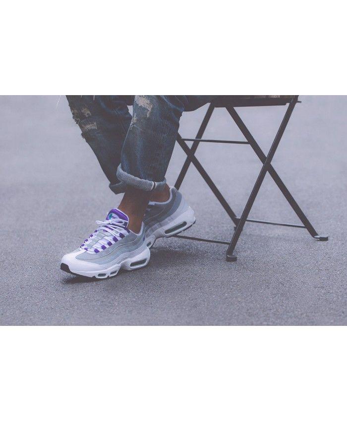 c841299f76 Nike Air Max 95 Og Grape White Purple Trainers Sale   nike air max ...