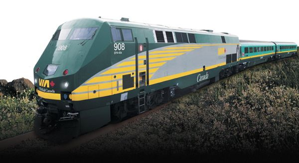 trans canadian railway | ontario via rail train