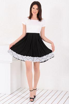 Mezuniyet ve Balo Elbise Modelleri, En Trend Düğün Nişan Abiye ve Elbiseleri En İyi Fiyatlarla! Detayları Göster Etek Dantel Güpürlü Siyah Beyaz Elbise