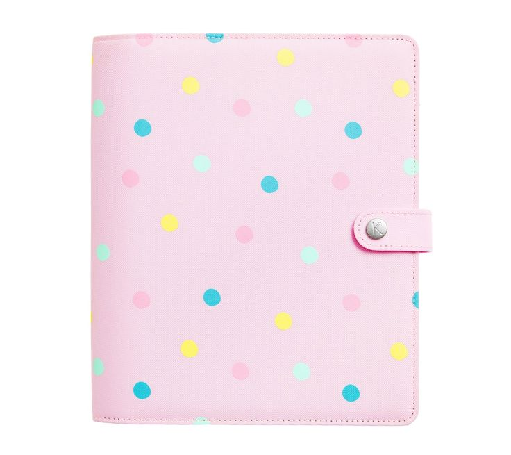 Bring some cuteness to your workspace with this gorgeous Personal Planner. Featuring a beautiful polka-dot design and a fabric cover, you'll love using it each day to get organised.