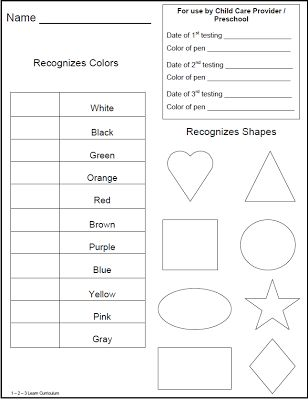 25+ Best Preschool Assessment Forms Ideas On Pinterest | Preschool