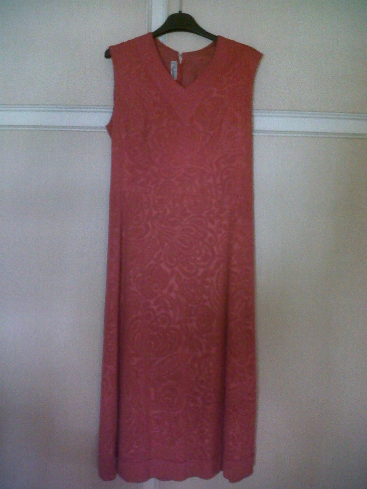60s afternoon dress. red Silk ton sur ton drawings