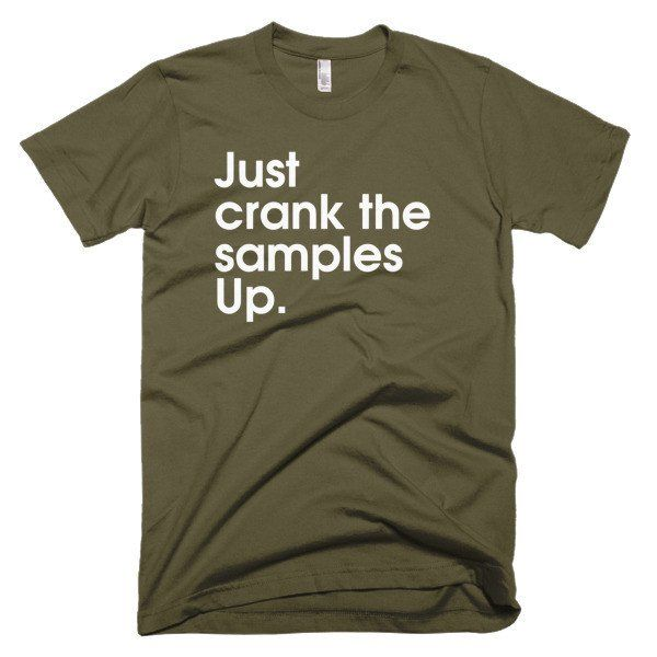 Just Crank It Up - American Apparel men's t-shirt (Oh, how I despised having to pay around with this when there were soooo many objects that is have to do this for plus having to render over and over and over...)