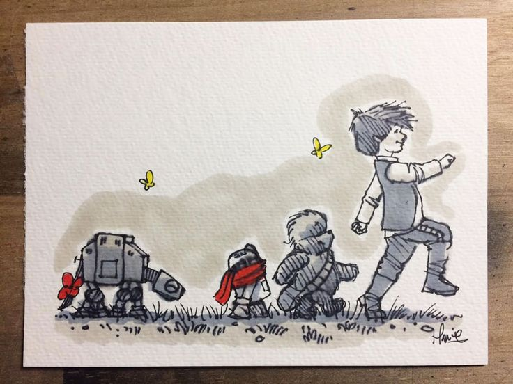 "Florida based illustrator and artist James Hance just combined Star Wars with Winnie the Pooh. Titled ""Wookie the Chew,"" Hance's illustrations reimagine Chewbacca as Pooh Bear and Eeyore as an Imperial Walker, along other crossovers."
