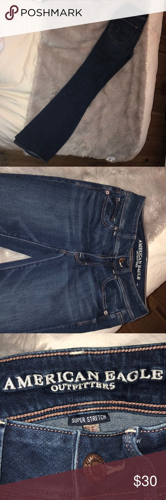 American eagle kick boot super stretch jeans only worn once to a bone fire with converse, super cute with converse, vans, boots or sandals! American Eagle Outfitters Jeans Boot Cut