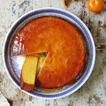 Sticky clementine cake which is also gluten free. For the full recipe click the image or visit redonline.co.uk
