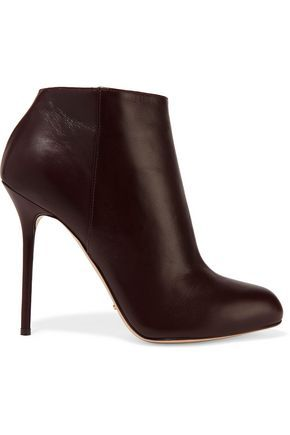 1653c7daa68b SERGIO ROSSI WOMAN LEATHER ANKLE BOOTS DARK BROWN.  sergiorossi  shoes