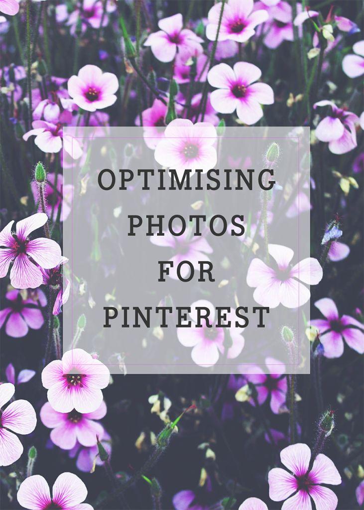 Optimising photos for Pinterest