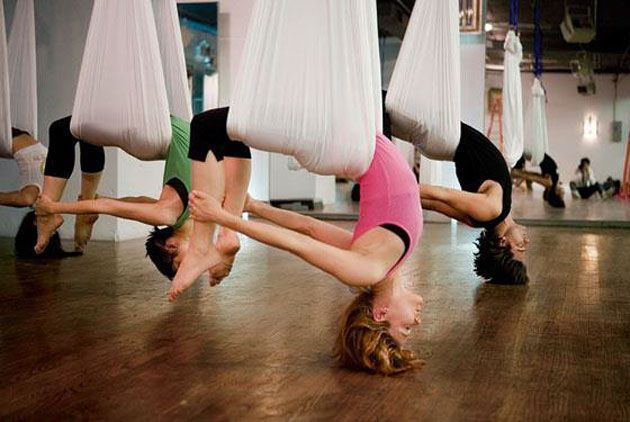 Exercise test dummy: An experiement with AntiGravity Yoga at Vibes Fitness