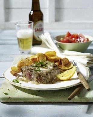 Steak nach Art der Lissaboner Cafés (Bifes à Café) Rezept