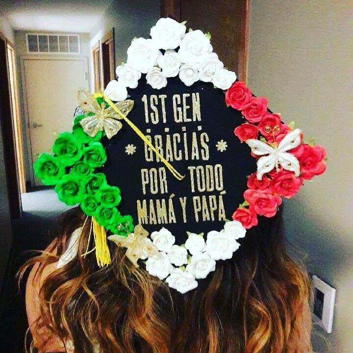 Graduation Cap #latina #Graduation #mexicanflag