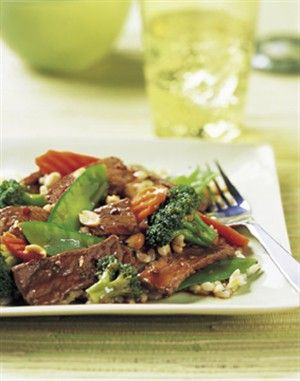 A classic beef stir-fry, ready in 15 minutes, using pre-cut veggies and prepared Asian sauce. Can it get any easier?