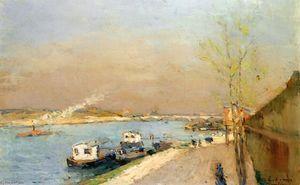 Quay on the Seine, Spring Morning - (Albert Charles Lebourg)