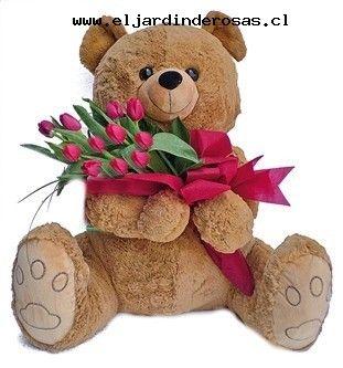arreglos florales con oso de peluche gigante - Buscar con Google
