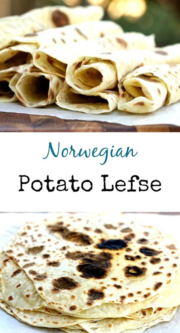 Potato Lefse Is A Norwegian Flat Bread That Is Rolled Out Very Thinly And Then Baked On A Very Hot Griddle It Looks Like A Crepe But Tas In 2020 Food