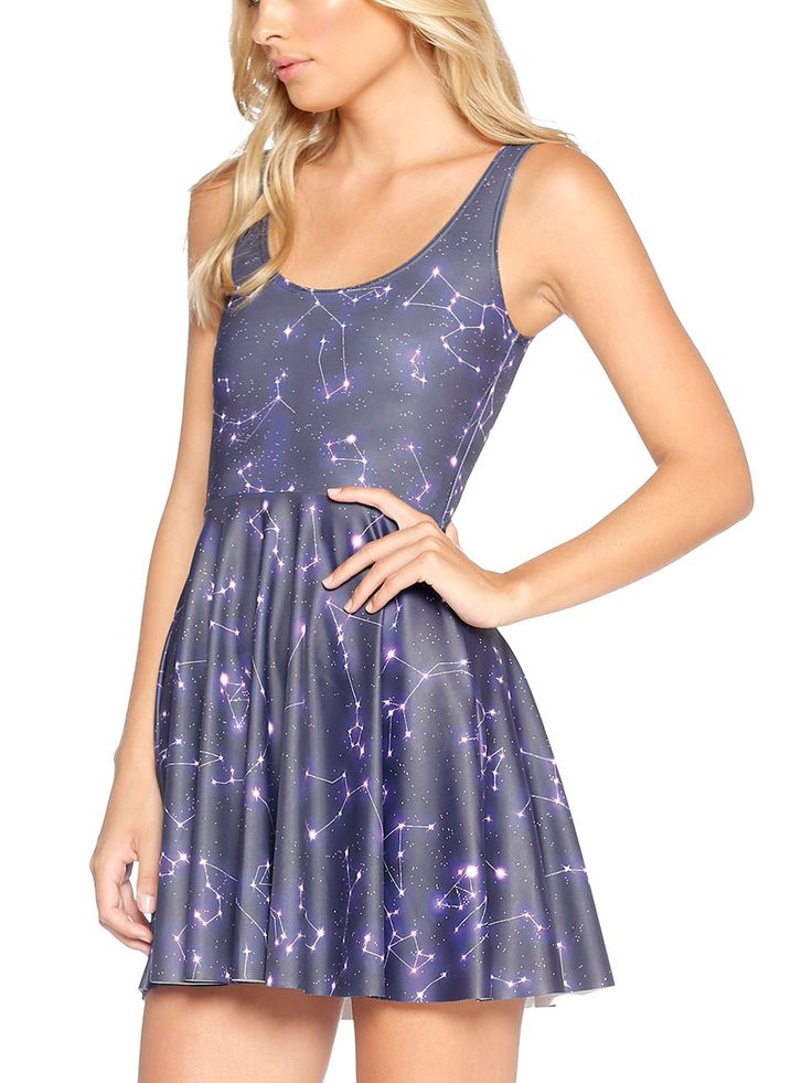 Written in the Stars Scoop Skater Dress - 48HR / LIMITED (AU $85AUD / US $60USD) by Black Milk Clothing