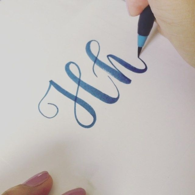 "My letter""H"" for today's #letterarchive #letterarchive_h  Video speed x2 Pen: SAI brush pen"