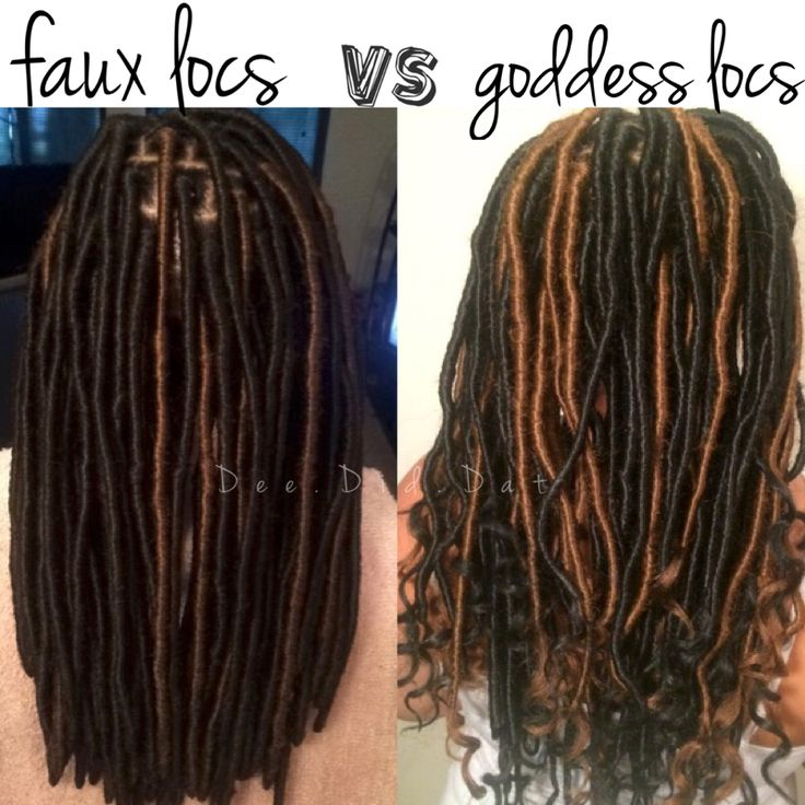 faux locs vs. goddess locs . Protective styles by @dee.did.dat on instagram !