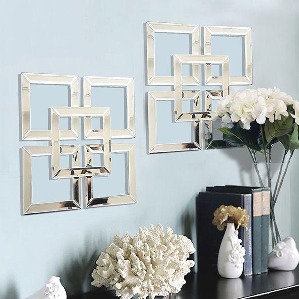 Yves Ii Artsy Geometric Wall Art Mirror Panel Unique Art Decor Geometric Wall Mirror Wall