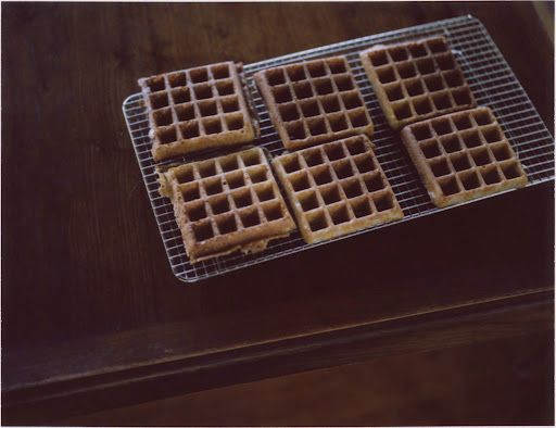 Yeasted buckwheat waffles. I've had good luck with yeasted pancakes ...