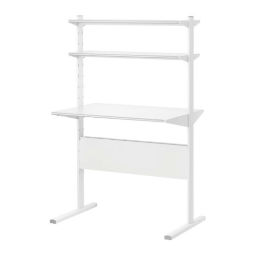 IKEA desk... mount it at different heights as the kids grow!