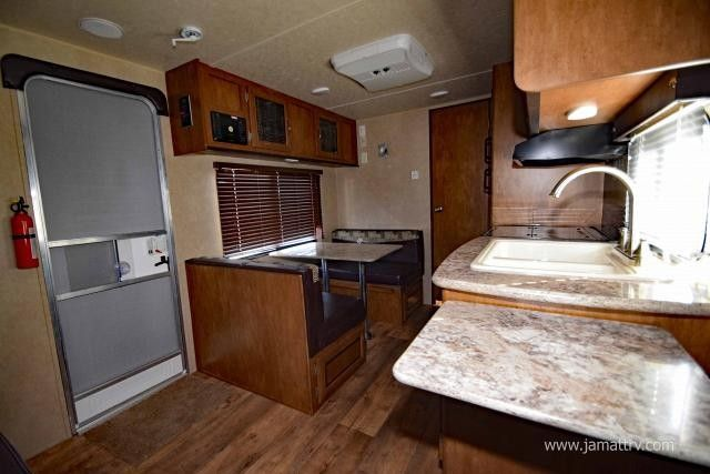 """2016 New Forest River WILDWOOD XLITE 171RB Travel Trailer in Oklahoma OK.Recreational Vehicle, rv, 2016 FOREST RIVER WILDWOOD XLITE 171RB, 2016 FOREST RIVER WILDWOOD XLITE 171RB, ULTRA LITE TRAVEL TRAILER WITH FRONT MURPHY BED, AND A LARGE REAR BATHROOM! DOUBLE DOOR REFRIGERATOR SPARE TIRE AND CARRIER SKYLIGHT OVER TUB RANGE WITH OVEN FOOT FLUSH TOILET COLRED LED AWNING LIGHTS W/REMOTE 2"""" WOOD BLINDS (LIVING ROOM) LED INTERIOR LIGHTS POWER TONGUE JACK POWER AWNING POWER STABILIZER JACKS"""