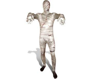 Le tissu du Morphsuit Momie est assez fin pour que vos yeux voient à travers – de l'extérieur par contre, votre visage est invisible