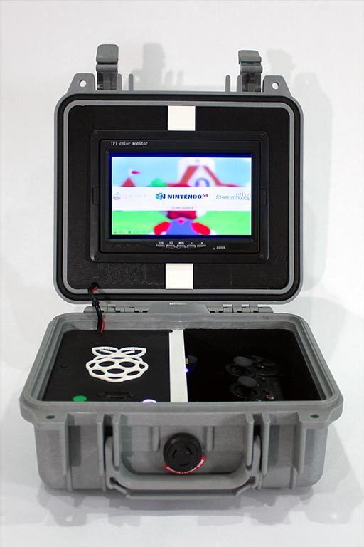 Retro pie box version 2 portable raspberry pi emulation console by nickrbrewer arcade - Retro game emulator console ...