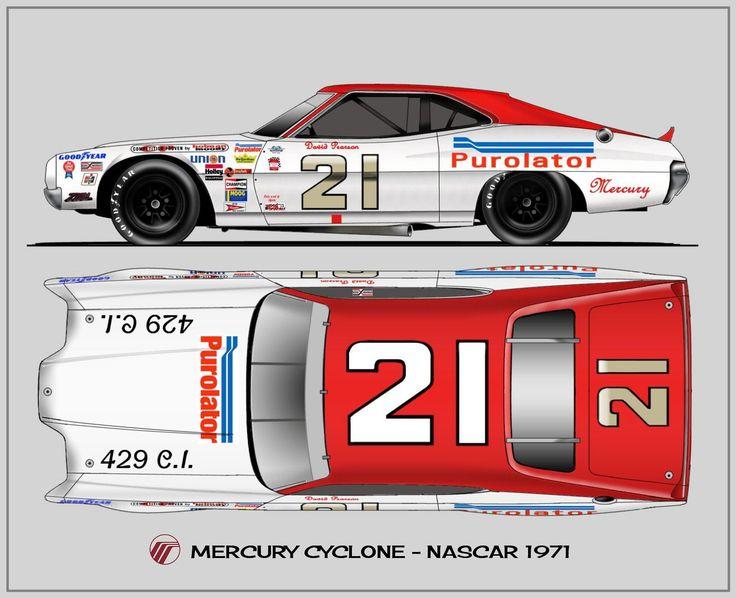 #21 Purolator Mercury Montego GT of David Pearson (circa 1973).