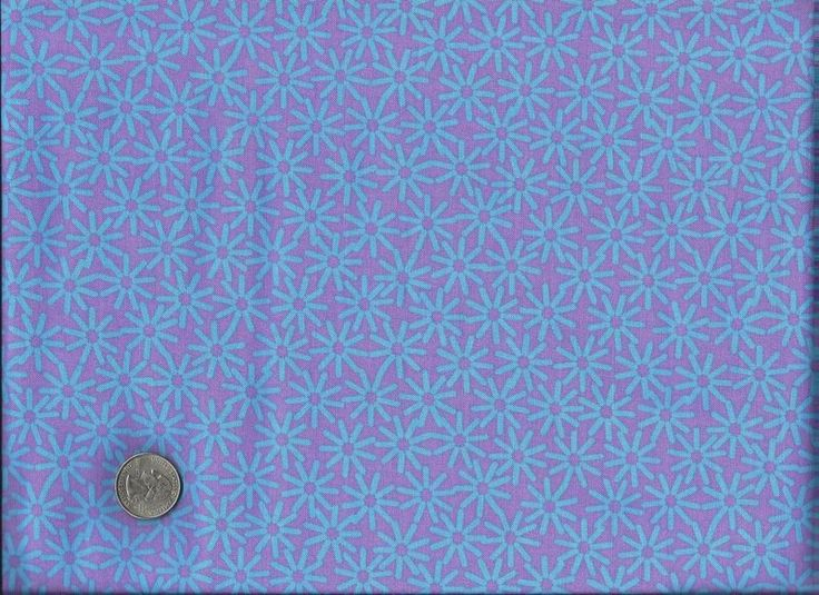 Cotton Quilt Fabric Stix And Stones Modern Fabric Purple Daisy - product image