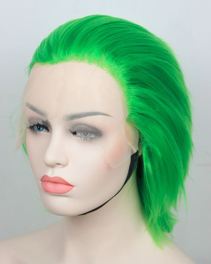 39.00$  Watch now  - 2014 special offer rushed beyonce's hairstyle Lace front Wig Green short straight synthetic hair wigs for women wig