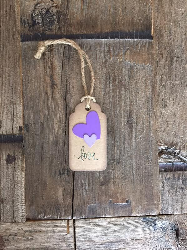"""""""Love!"""" Gift Tag These gorgeous handmade tags are a great way to show your support and excitement for your friend/wife/partner/co-worker's approaching baby! Each one will be placed on the neck of the"""
