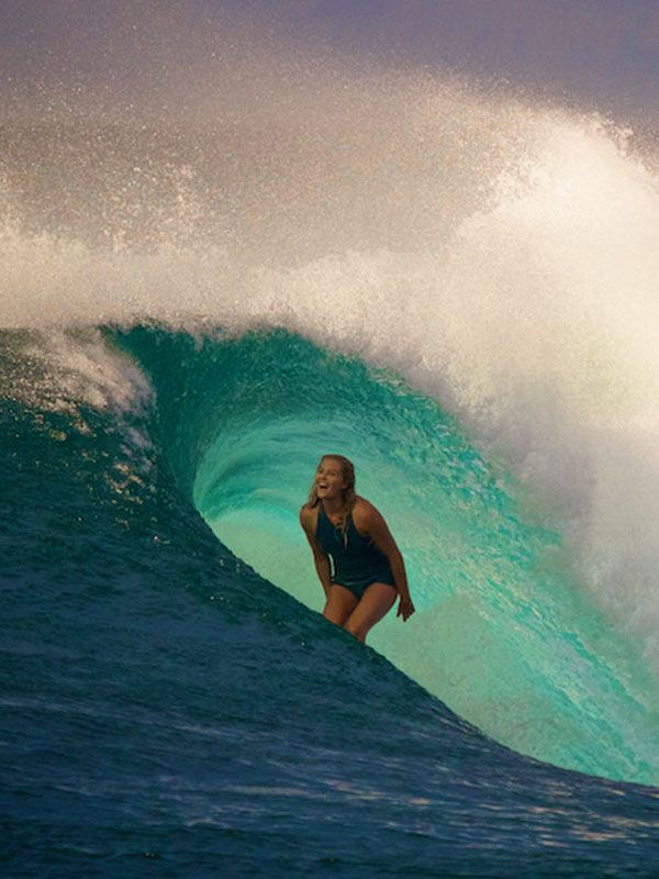 They say the best surfer is the one having the most fun. Stephanie Gilmore at P-Pass. Photo: Richard Kotch