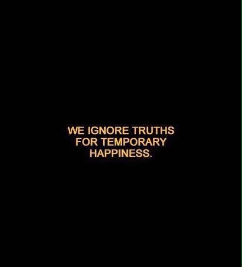 When we stop ignoring, we suffer anyway.