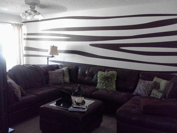 Zebra Print Wall Decals  Large pkg. by WallGlitz on Etsy, $150.00