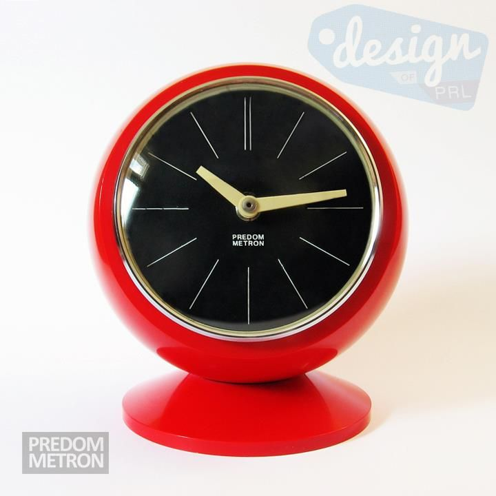 Polish space era clock. Manufactured by Predom Metron