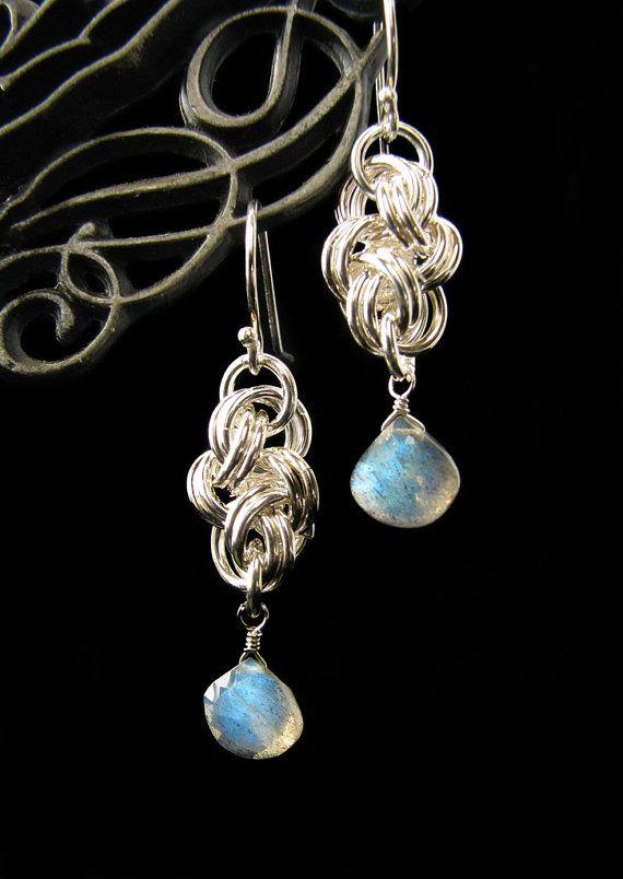 Chain mail earrings
