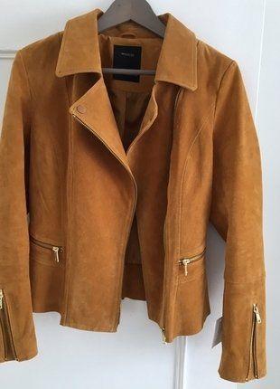 À vendre sur #vintedfrance ! http://www.vinted.fr/mode-femmes/vestes-en-cuir/38637458-veste-courte-femmes-cuir-suede-couleur-marron