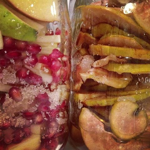 pomegranate and Chinese quince