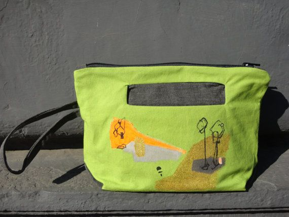 Green Clutch Bag Urban Glam by koatye1 on Etsy