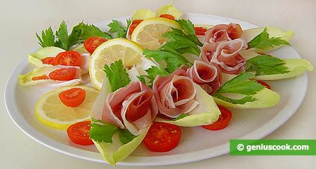 An Appetizer with Endive and Prosciutto Ham | Romantic Dinner Recipes | Genius cook - Healthy Nutrition, Tasty Food, Simple Recipes