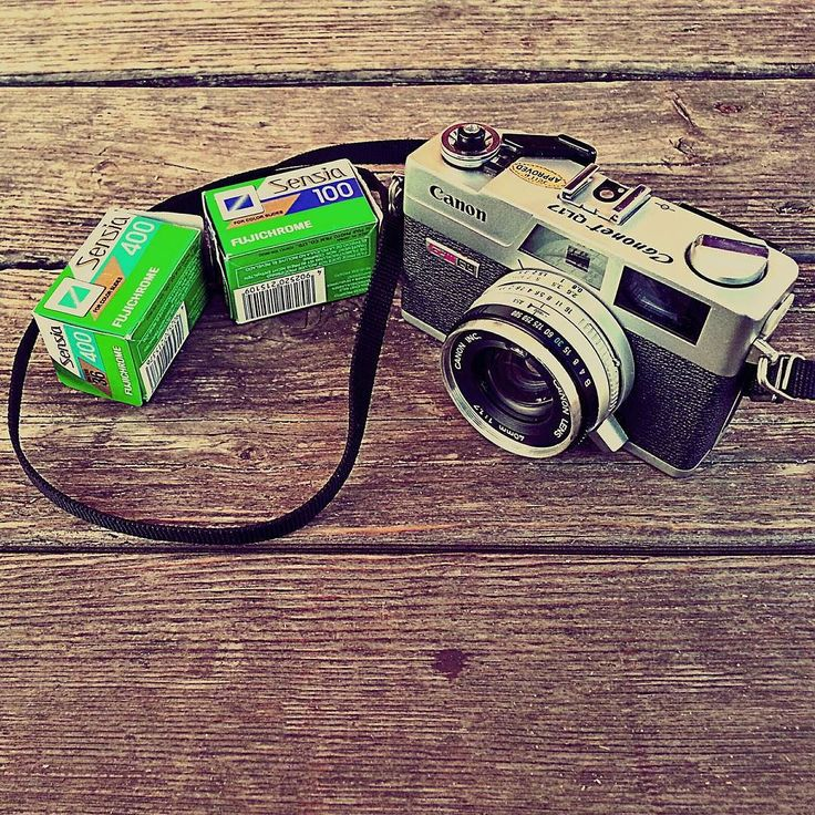 #throwbackthursday Canon Canonet rangefinder camera and Fujichrome Sensia film.
