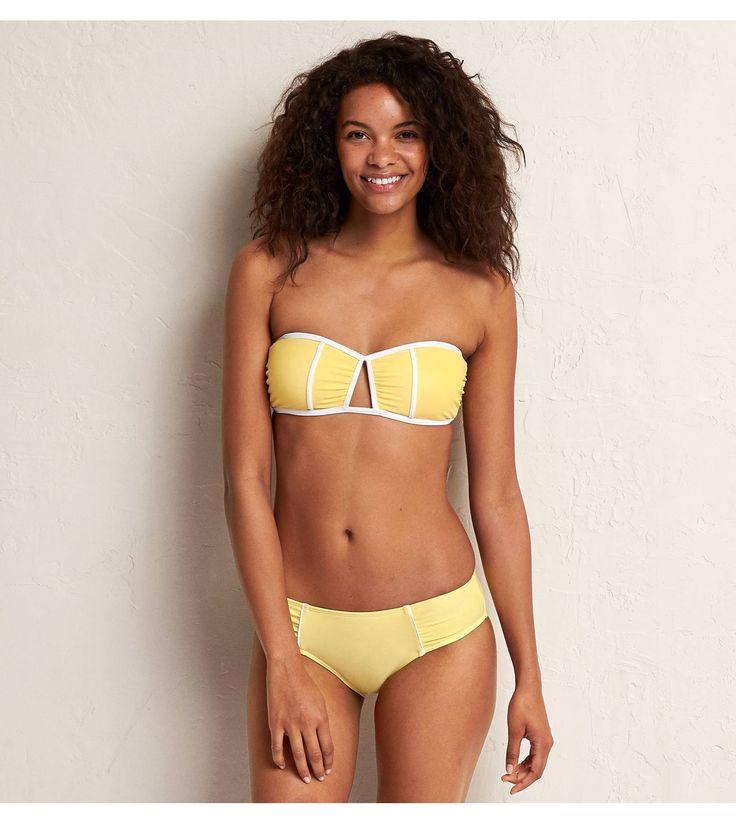 Cozy Yellow Aerie Bandeau Bikini Top Straps Optional