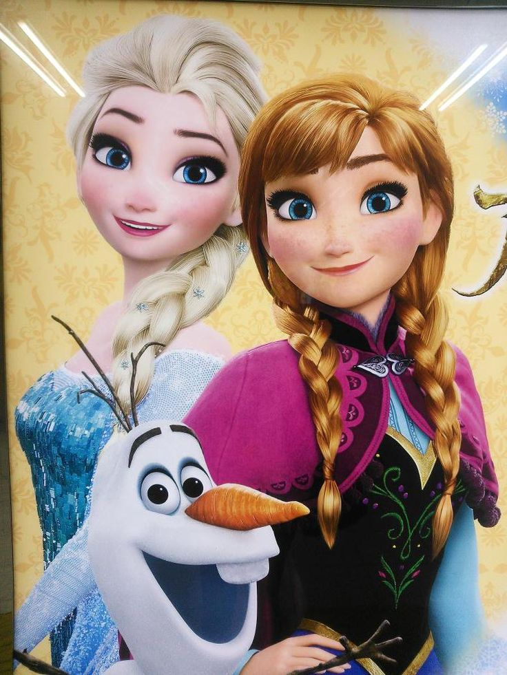 Anna, Elsa, and Olaf the sisters and snowman