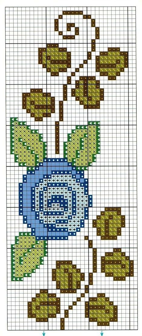 blue rose cross stitch.  no legend for floss numbers, but should be easy enough to figure out.  good, clear chart.