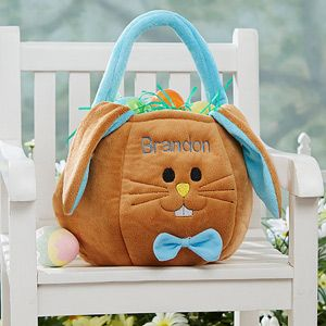 The 25 best personalized easter baskets ideas on pinterest personalized boys easter basket blue easter bunny negle Images